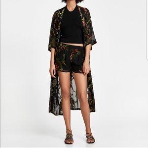 Zara kimono and short set